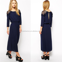 2014 long sleeve midi dress long sleeve ankle length dress