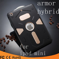 low price pc tpu hybrid armor ring kickstand back cover phone case for Ipad mini2