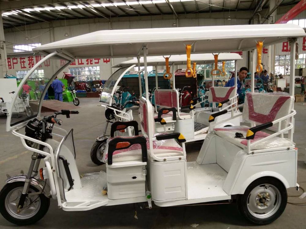 Eco friendly electric battery powered rickshaw for India bajaj tricycle