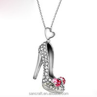 Sexy high heels turkish silver necklace jewelry