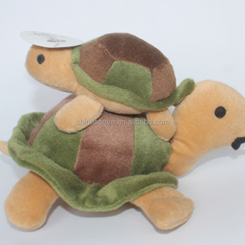 Wholesale new cute crawling small turtle dog biting sound plush toys
