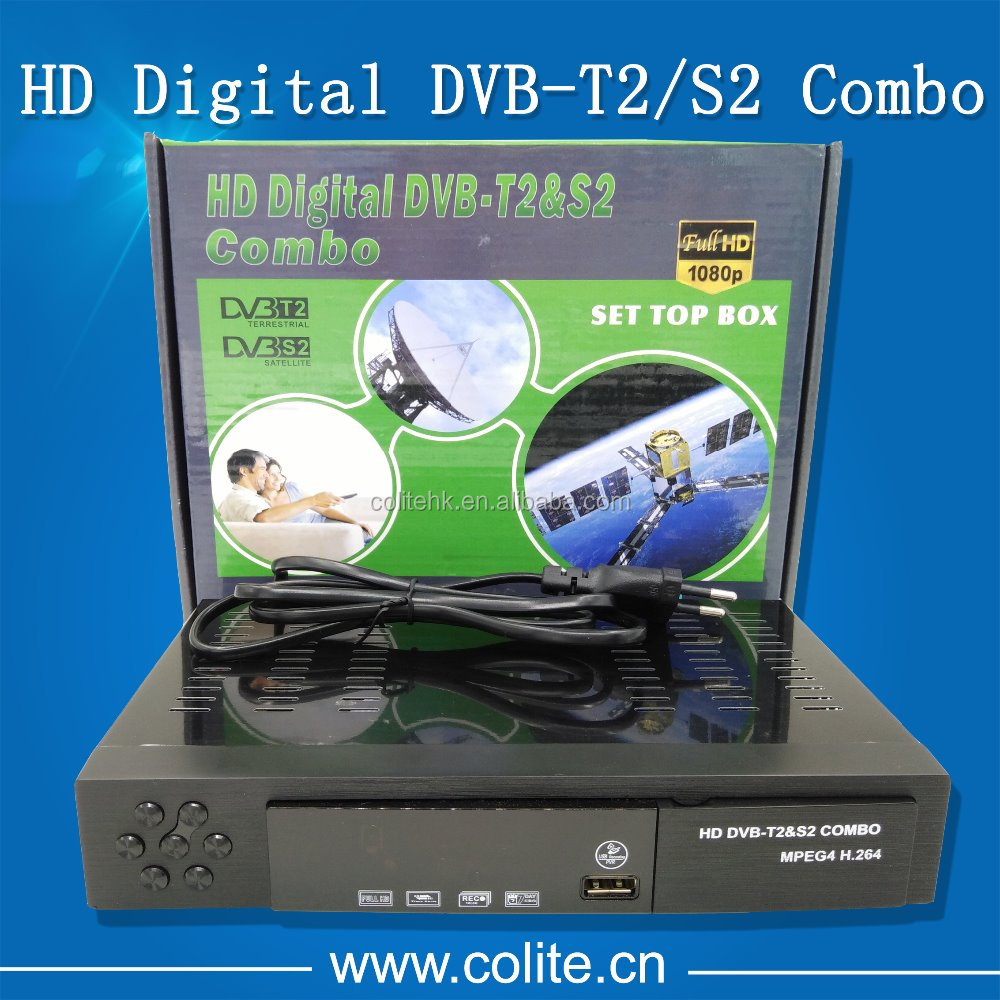 Hot Selling HD Combo DVB-S2 DVB-T2 Satellite Receiver FTA HD Set Top Box