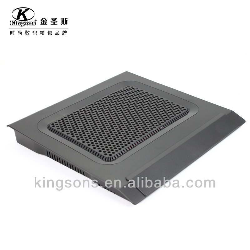 High quality laptop cooling pad single fan with 2 usb interface