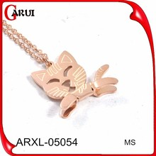 Alibaba china fashion jewelry african necklaces pictures of fashion necklaces rose gold plate cat necklace