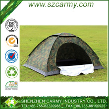 2 Person Single Layer Set up One Room Polyester 1pc Skylight Cloth Cover Hot Sale Camping Used Military Waterproof Tents