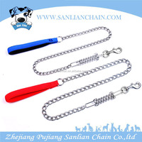 Strong steel iron dog chain personalized Spring dog Leash