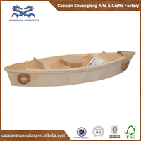 New best seller promotional small lovely wooden toy boat models for kids