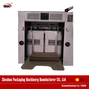 Factory made creasing and die cutting machine with heating plat