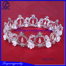 2017 The Most Fashion Golden Plating Rhinestone Crown And Tiaras
