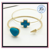 Fashion Accessories Turquoise Corss And Heart