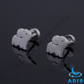 Fake ear studs jewelry cute stainless steel elephant ear plugs wholesale