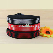 3.0cm colored polyester stripe elastic webbing