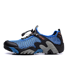 Man's Outdoor Hiking Shoes Mesh Walking Sneaker