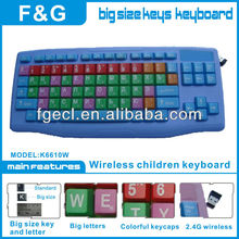 New and popular big letter wireless kids keyboard