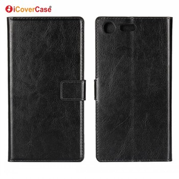 Phone Accessories Retro Crazy Horse PU Leather Phone Wallet Leather Cover For Sony Xperia XZ Premium Case
