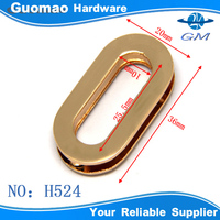 Gold zinc alloy oval metal grommets for handbags