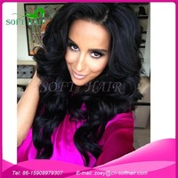 China supplier Brazilian/Peruvian/Mongolian/Malaysian virgin human hair full lace wigs natural color cheap cosplay wig