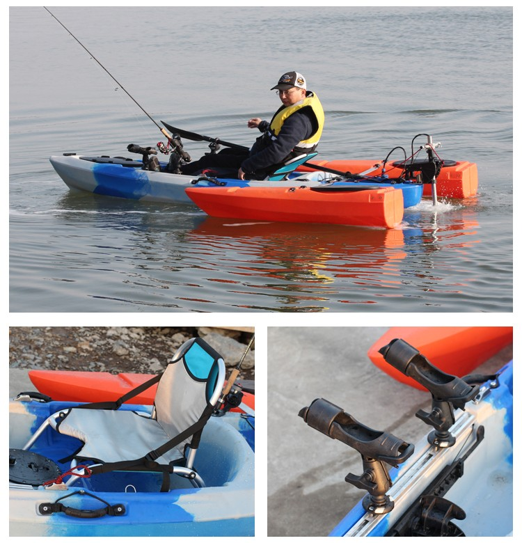 2016 plastic sit on top single kayak fishing no inflatable for Best inflatable fishing kayak