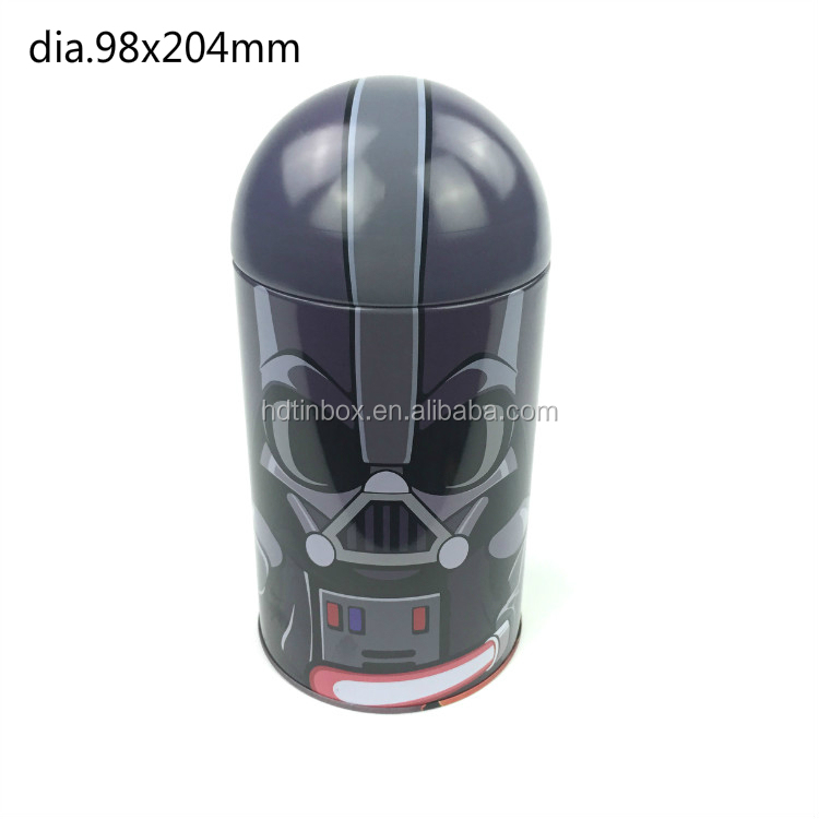High quality Stormtroopers design metal special shaped tin box