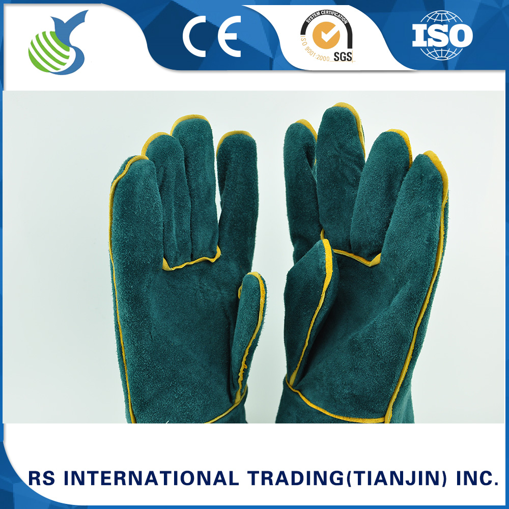 Cheap grade cow split welding gloves from China manufacturer