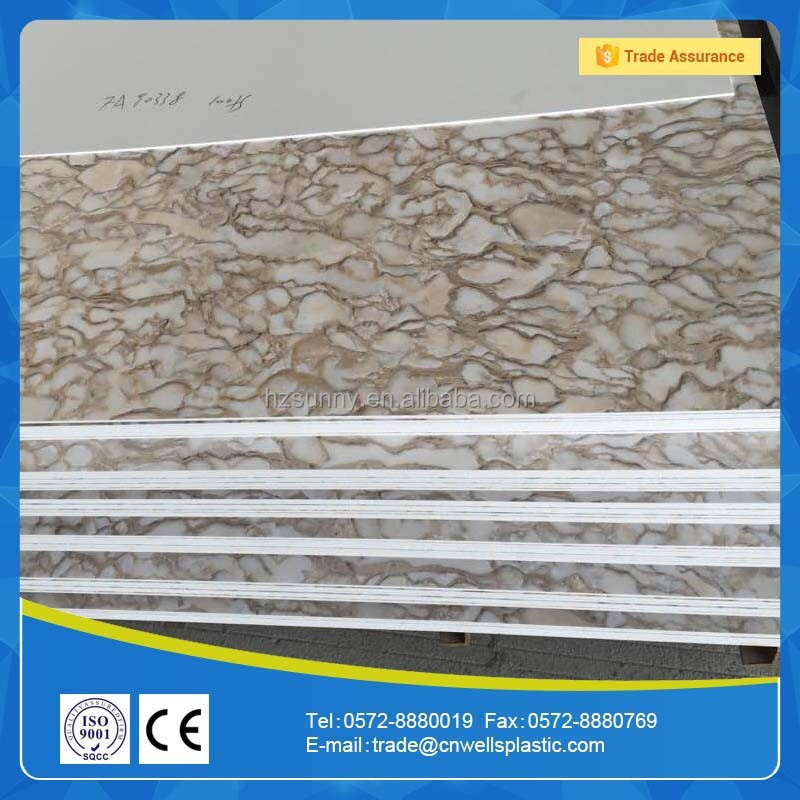 low price hot stamp marble pvc ceiling design