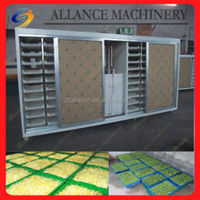 Automatic organic fodder sprout container with green trays 500 kg per day