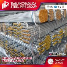 ASTM A795 hot drawned ms schedule 40 galvanized conduit steel pipe for greenhouse furniture fence post