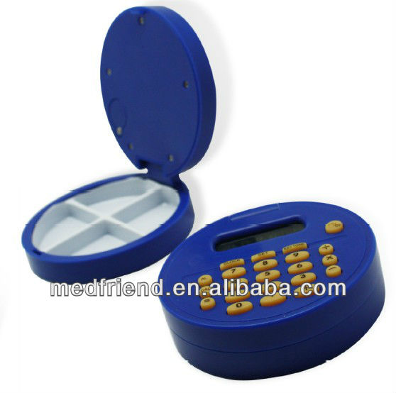 Pillbox/Pill case Calculator with Reminder
