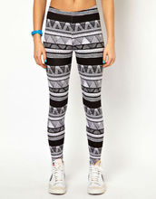 new latest printed leggings , fashion leggings hot sell geometric patterns jersey leggings