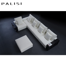 Hot Sale Home Sense Entry Luxury <strong>Modern</strong> white Living Room Furniture feather L shape sofa set design