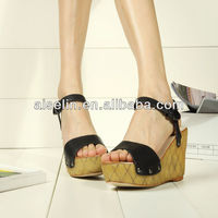 ladies wedge heel fashion shoes 2013 large size women shoes