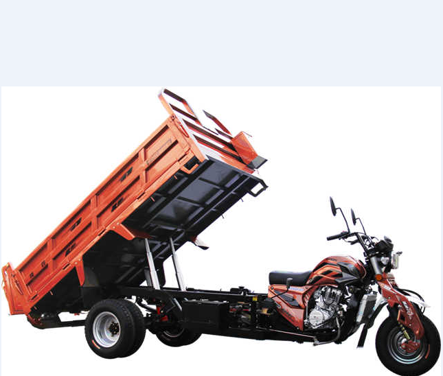 Loncin 3000kg 200cc 250cc heavy load self discharging five wheel cargo tricycle/three wheel motorcycle