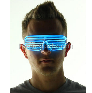 EL Light up party/rave party/event flashing neon glasses,carnival glow glasses,stage play glowing glasses