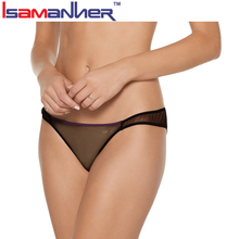 Tulle and satin underwear womens girls wearing transparent panties