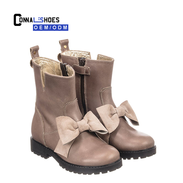 Connal fashion dust designer casual boots with hair bows