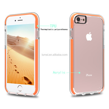 Crystal Clear PC Back Cover For Iphone7, TPU Bumper Hybrid Protective Case for iPhone 7Plus