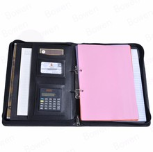 Modern Design luxury fashion personalised Pu leather portfolio folder case