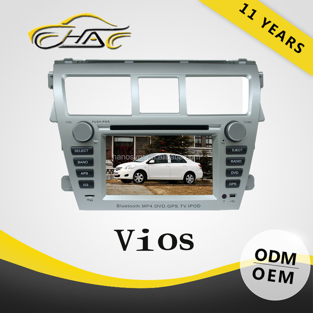 Good Quality Toyota Vios car DVD player built in GPS navigation