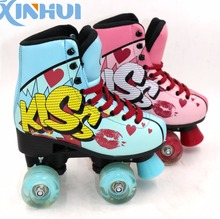 Popular Among South America 4 flasing wheels roller shoes skate shoes quad soy luna shoes
