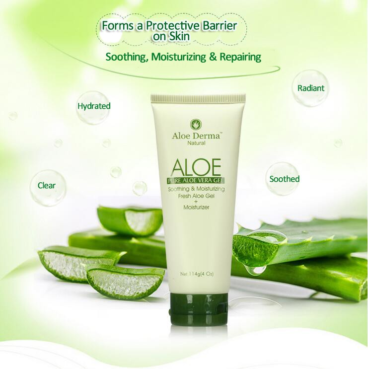 ECOCERT-114g Organic Cosmetics 99% Aloe Vera Soothing Gel, body gel,facial gel,facial cream