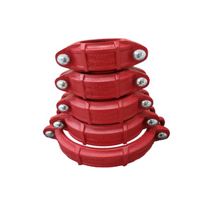 Ductile Iron grooved pipe fittings and couplings for fire fignting1-12