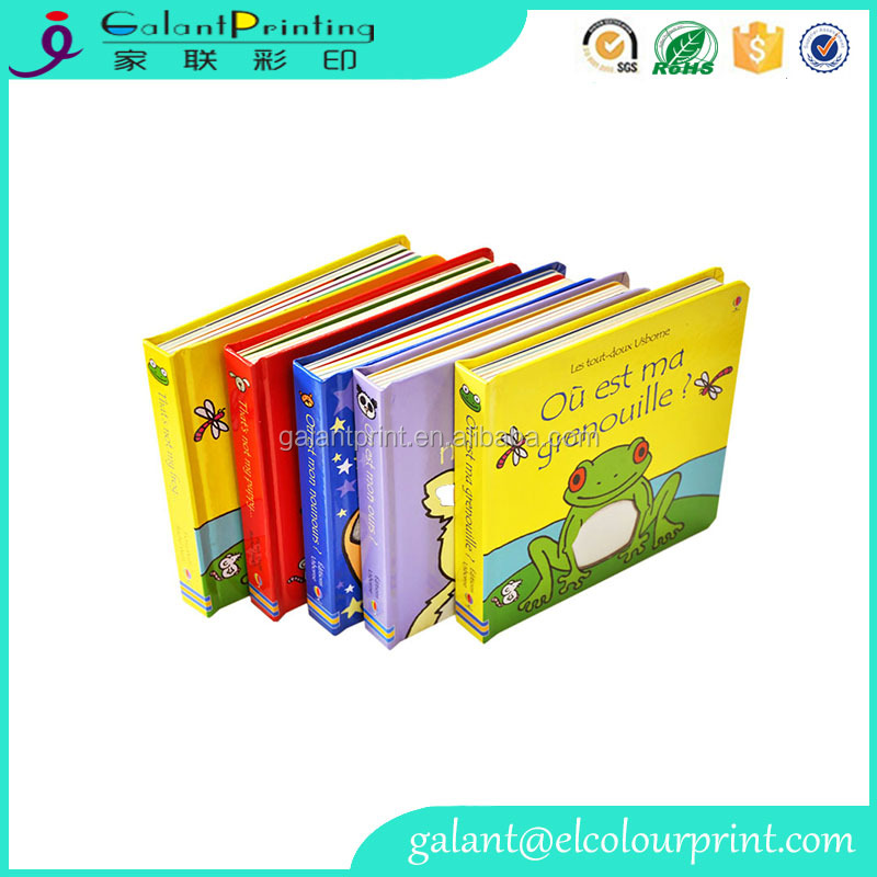 Custom printable children magic color filling book with book shape box