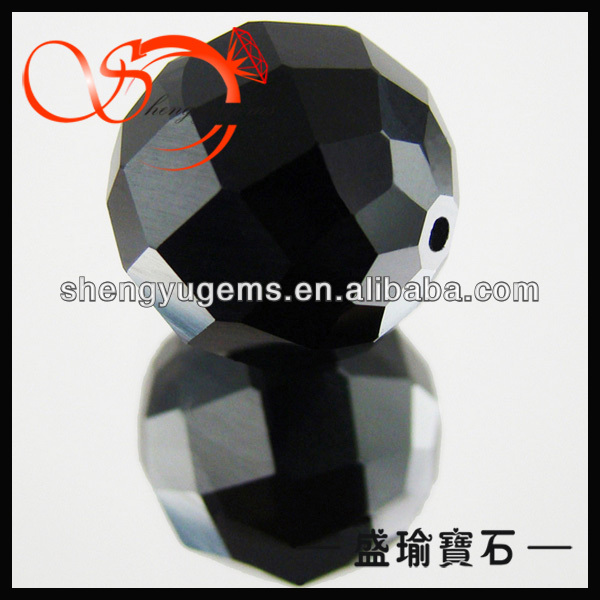 black faceted glass beads wholesale in bulk