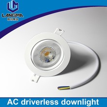 dimmable fire rated downlights no driver luminaria10w energy saving led spot light