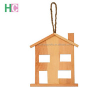 customized house sharped wooden key chains