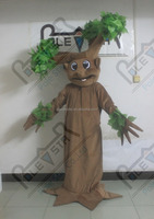 Camouflage Tree costume cartoon decorated tree mascot design