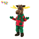 Enjoyment CE Adult fur christmas deer mascot reindeer costumes for sale