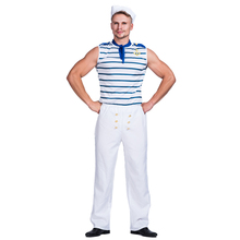 carnival party costumes stripe sexy sailor costume for adult man fancy dress