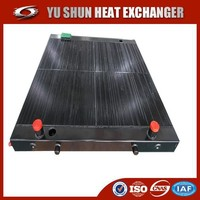 high performance aluminum customized hydraulic oil cooler for construction machinery