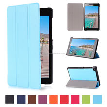 ultra slim smart Tri-fold leather cover case for Lenovo Tab2 A7-20F